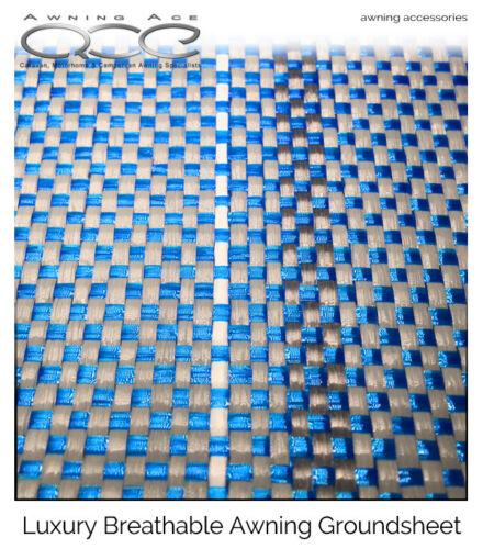 Bleu//Gris Luxe Respirant herbe Friendly Auvent Tapis de sol 200x250cm