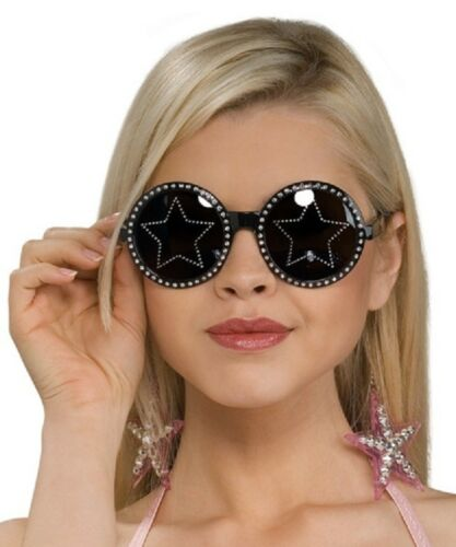 Stars Are Blind Glasses Bling Rhinestone Halloween Costume Accessory 3 COLORS