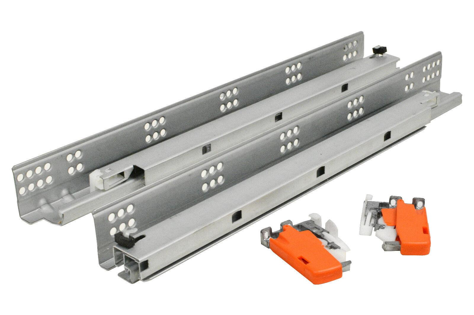 Undermount Drawer Slide 75 lb Soft Closing Full Tandem 2 Zinc Triggers 6 Pair