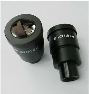 New-Pair-WF-20X-EYEPIECE-FOR-NIKON-OLYMPUS-LEICA-ZEISS-STEREO-MICROSCOPE-30MM