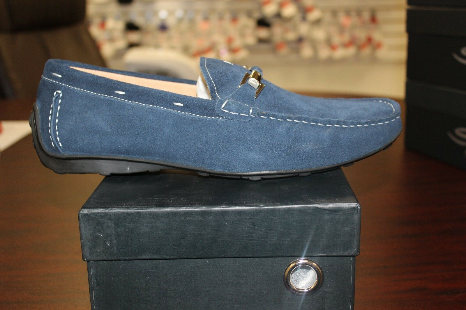 Salo New York Blue Suede Loafer S405-069 High Quality Materials