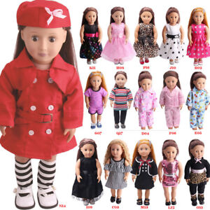 Doll-Clothes-Dress-Outfits-Pajames-For-18-inch-American-Girl-Our-Generation-Gift