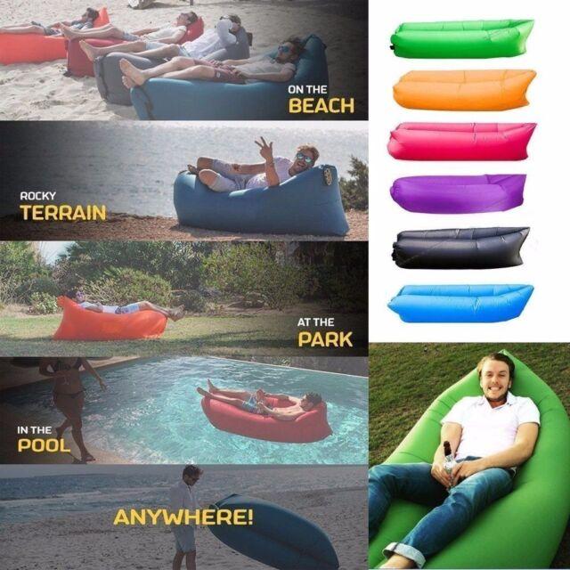 Air Bed Lounger Chair Air Chair Inflatable Sofa Sleeping Bag Mattress Seat Couch
