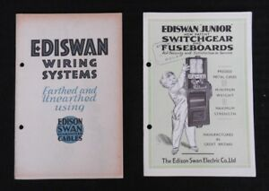 1931-32 EDISON SWAN EDISWAN SWITCHGEAR FUSE BOARDS BOX CABLE WIRING CATALOG SET