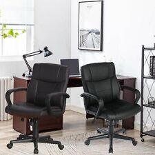 High Back Pu Office Chair Swivel Executive Task Ergonomic Computer Desk Chairs