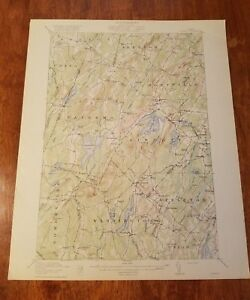Topography Map Of Maine.1916 Maine Topography Map Montville Palermo Liberty Washington