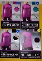 Paradox Women's Dri Release Merino Wool Blend 1/4 Zip Top Base Layer No Box
