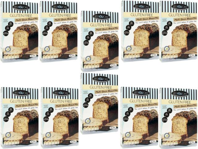 10 x 400g YESYOUCAN Yes You Can Multi Grain Bread ( 4kg ) GLUTEN FREE