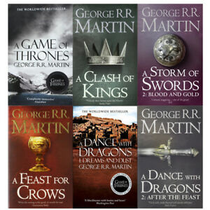 George R R Martin A Song Of Ice And Fire Series 1 6 Books Collection Set Pack 9780007548231 Ebay