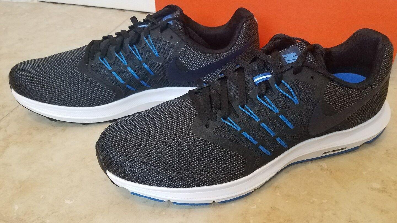 New Nike Men Run Swift Athletic Running shoes 908989-004 Black bluee 13