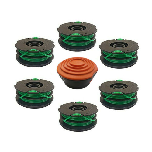 "6 Line Spools Spool Kit for Black /& Decker GrassHog XP 14/"" GH1000 Type 4"