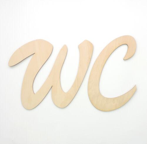Schriftzug WC aus Holzbuchstaben 20cm Türschild Buchstaben Wort Wandtattoo
