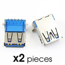 x2pcs Connecteur USB 3.0 femelle Type A / Female Connector plug for solder DIY