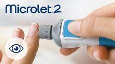 Bayer Microlet 2 Adjustable Lancing Device -1 EA&10 Lancets