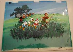 B8197: Huey, Dewey, Louie Animation Cel+Background