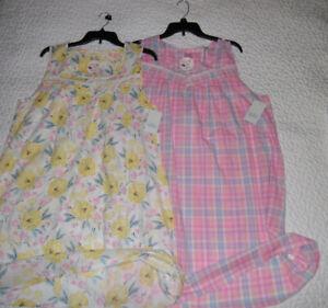 Croft-Barrow-Pintuck-Yolk-All-Cotton-Sleeveless-Short-Sleepshirt-Nightgown-NWT