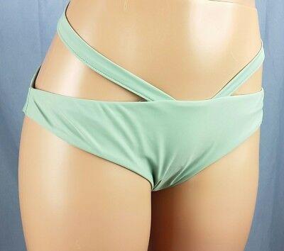 Kendall /& Kylie Mint Green Women/'s L Bikini Swim Top ONLY Strappy Harness Large