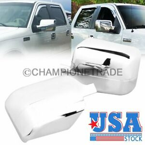 US Pair Triple Chrome Side Door Full Mirror Cover Tirms For Ford F150 2004-2008