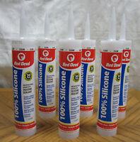 6 Tubes Red Devil Clear Architectural Grade Rtv 100% Silicone Caulk Sealant Lot