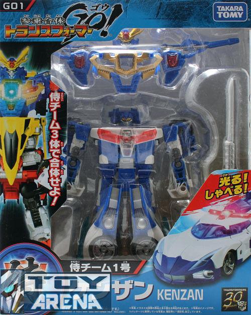 Transformers Go  G01 Kenzan Samurai Police Car Voyager Beast Hunters Takara