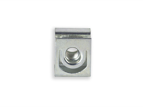 RackGold® Zinc 12-24 Slide-on Cage Nuts 25 Pack USA Made G1224-SLD-Z25
