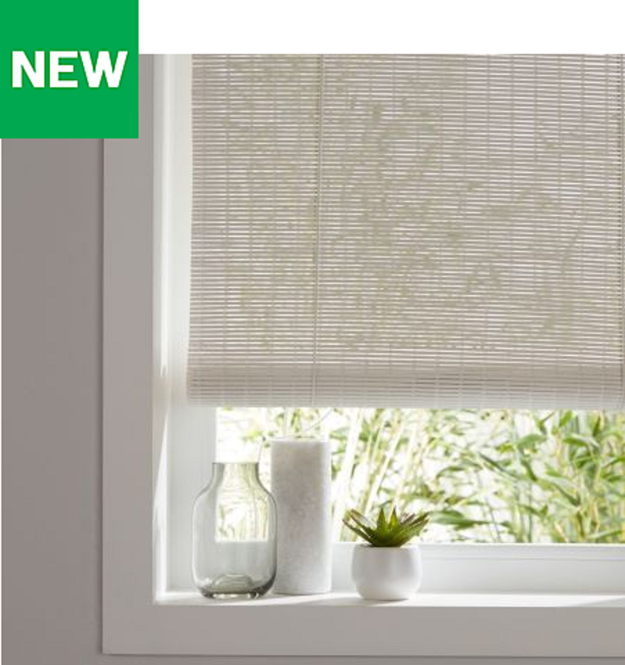 Colours Java Corded Weiß Roll Up Window Blinds Attractive Finish Multiple Größes