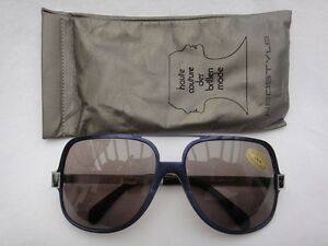 VINTAGE-NEOSTYLE-SUNART-770-METALLIC-BLUE-BROWN-LENS-80-039-S-MADE-IN-GERMANY