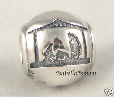 SILENT NIGHT Genuine PANDORA Silver CHRISTMAS~NATIVITY~3 WISE MEN Charm/Bead NEW