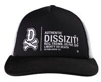 Dissizit Black White Trucker One Size Snapback Skateboarding Mesh Baseball Cap