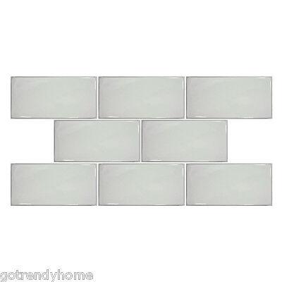 "1SF- White Hand Made Porcelain 3""x6"" Subway Tile Mosaic Kitchen Backsplash Spa"