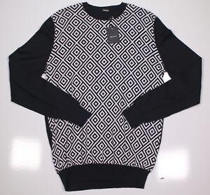sale retailer 4d137 51122 Details zu Nwt Neu Kiton Schwarz / Weiße Raute Muster Baumwolle Pullover  40/M