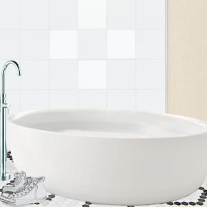 Design Free White Tile Decals