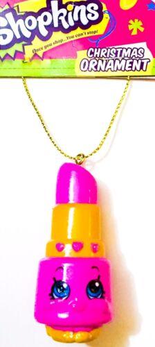 Shopkins Lippy Lip Figure Full Sculpt Christmas tree Ornament Lipstick Pink Details about  /NEW