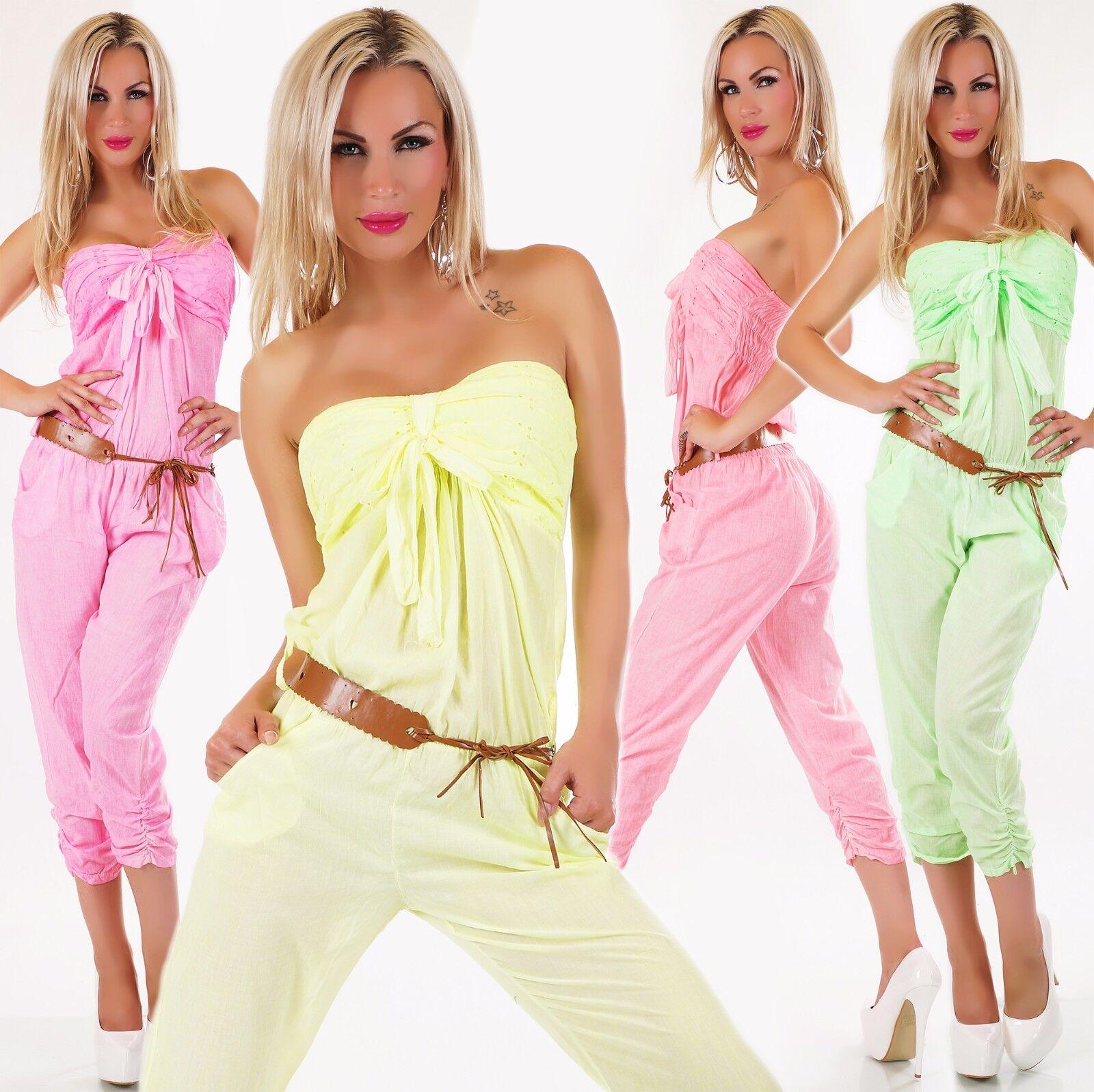 women fascia 7 8 TUTA COMPLETA incl. CINTURA colori Neon 34 36 38