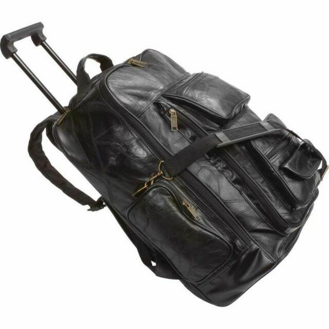 Color : Black, Size : 53.533.529.5cm Extra Large Expandable Travel Wheelie Bag Rolling Duffle Bag Trolley Cases High Capacity ZHANGAIZHEN