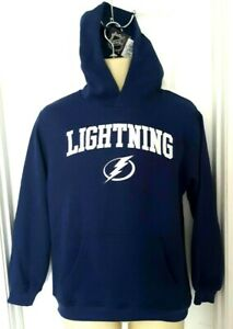 TAMPA-BAY-LIGHTNING-Youth-Hoodie-Size-XL-14-16-Stitched-Logos-Sweatshirt-New