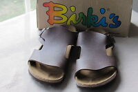 Birki's Textured Brown Sandal Size 43 Medium / Mens 10
