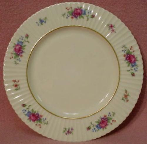 LENOX china PAVLOVA O386 green stamp SALAD PLATE - Set of Two (2) - 8-3/8""