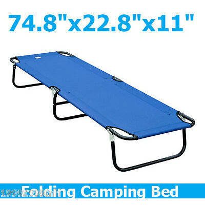 "Outsunny 75"" Portable Military Cot Folding Camping Sleeping Bed Outdoor Hiking"