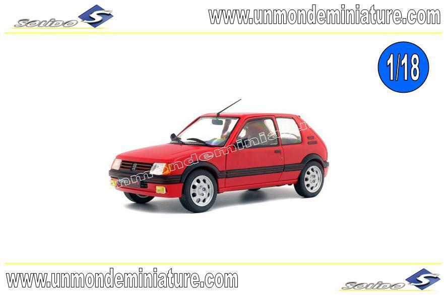 Peugeot 205 GTI 1.9 Phase 1 1988 Rouge SOLIDO - SO 1801702 - Echelle 1 18 NEWS