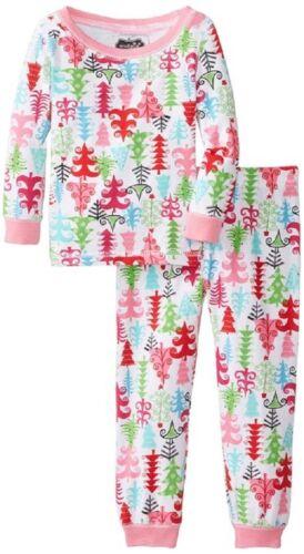 New Mud Pie 2 pc CHRISTMAS TREE LOUNGE SET Holiday Pajamas PINK 6-9 months gift