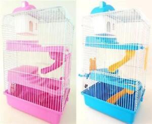 3 tiers gorgeous large hamster mouse cage storey fantasia. Black Bedroom Furniture Sets. Home Design Ideas