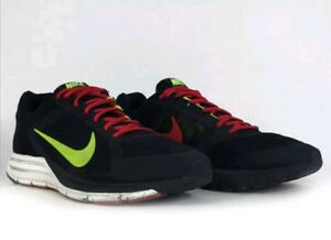 buy popular dacbe 57b29 Image is loading Nike-Zoom-Structure-17-Black-Neon-Yellow-Red-