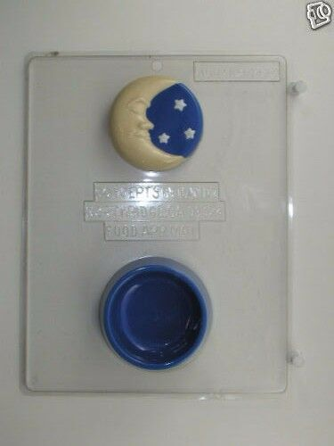 CRESCENT MOON POUR BOX CLEAR PLASTIC CHOCOLATE CANDY MOLD AO141