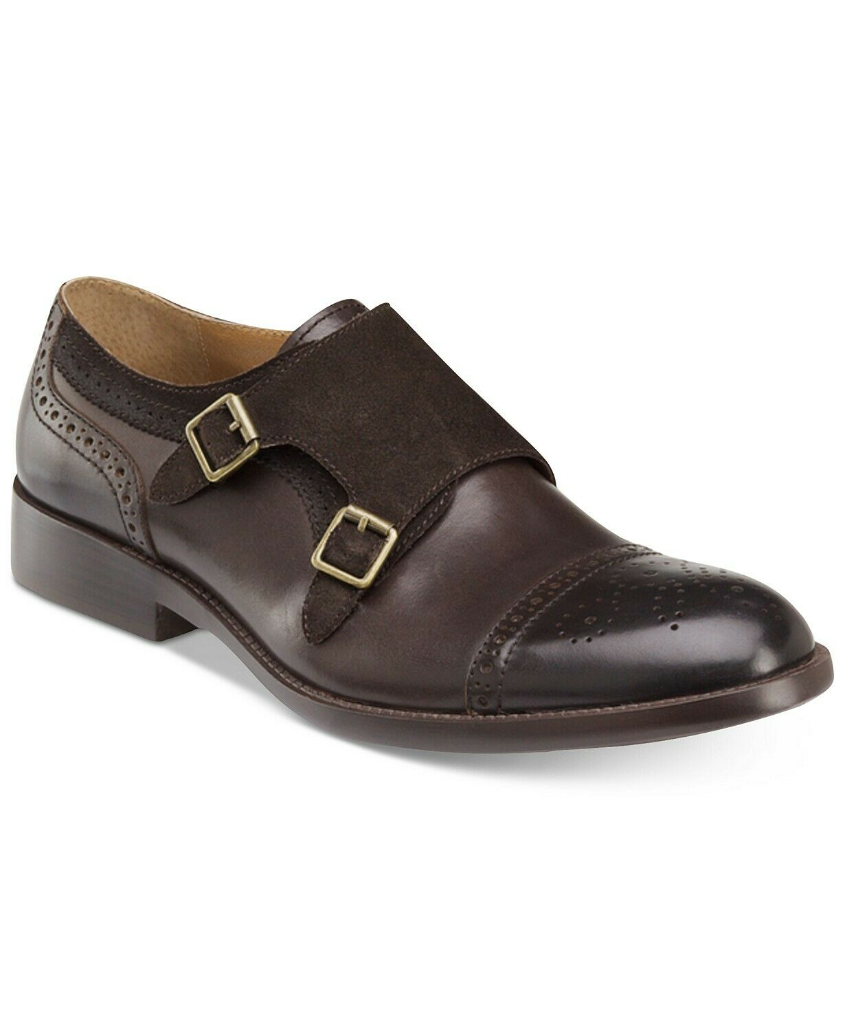 Johnston Murphy para hombre Fletcher Doble & Monk Strap Slip-On Mocasines M