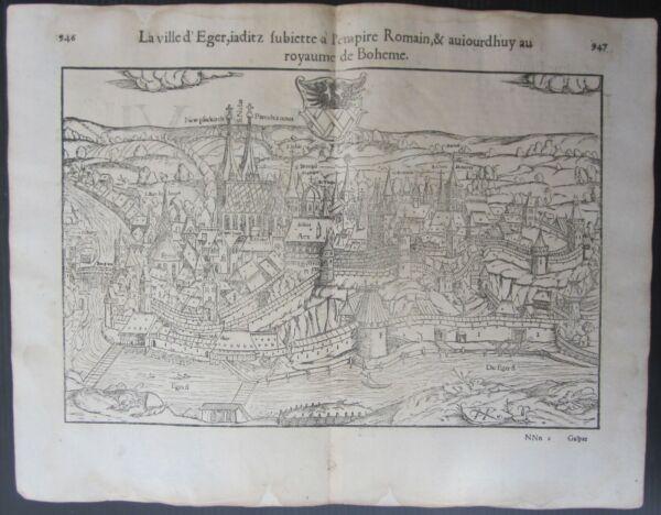 1568 Cheb Cosmographia Universalis Munster Eger Czech Republic Czechia Česká