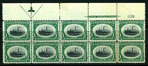USAstamps-Unused-FVF-US-Pan-American-Arrow-Plate-Block-of-10-Sctt-294-OG-MNH-MHR