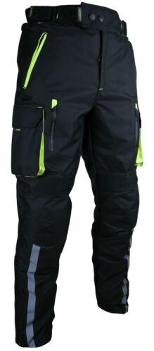 L Heyberry Motorradhose Schwarz Neon Textil mit Oberschenkeltaschen Gr