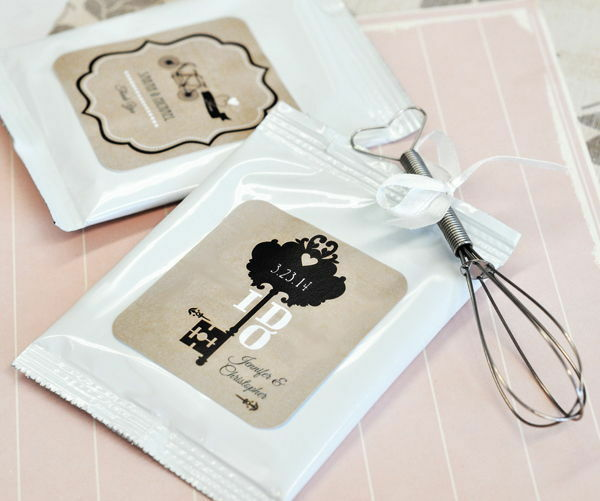 72 Personalized Vintage Wedding Theme Hot Cocoa Mix Pouches Wedding Favors