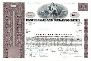 Eastern-Gas-and-Fuel-Associates-Stock-Certificate-100-Shares